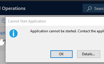 Microsoft.Dynamics.AX.Framework.Workflow.WorkflowEditorHost (4).application resulted in exception. Following failure messages were detected: + Deployment and application do not have matching security zones.