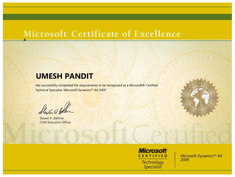 Microsoft Certified Technical Specialist: Microsoft Dynamics AX 2009