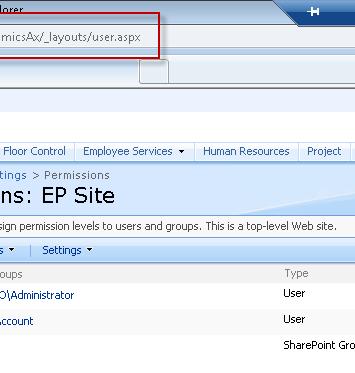 Dynamics AX 2009 enterprise portal SharePoint 2010